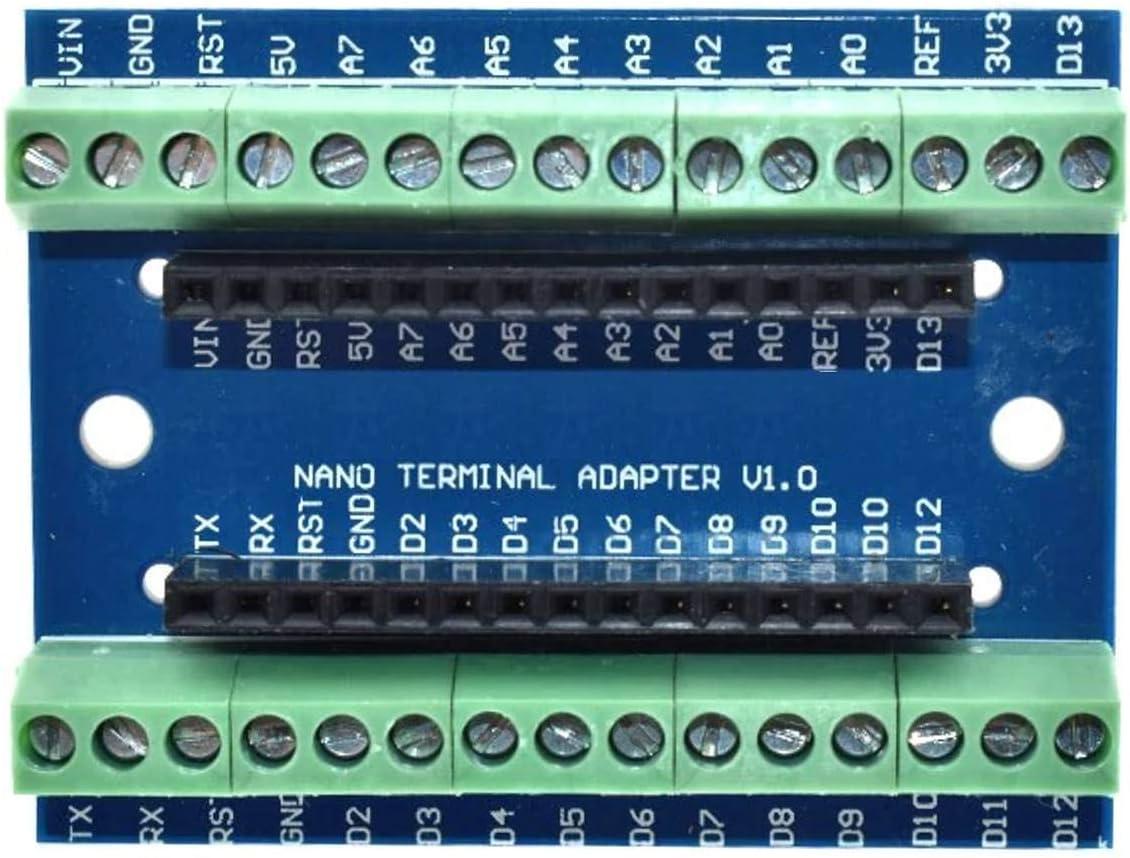 Screw Terminal Adapter for Arduino NANO and CANADUINO Bread Board Buddy