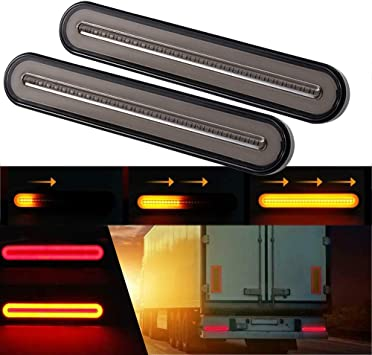 GSRECY 100 LED camion Fanale posteriore per camion camion camion colore: giallo e rosso