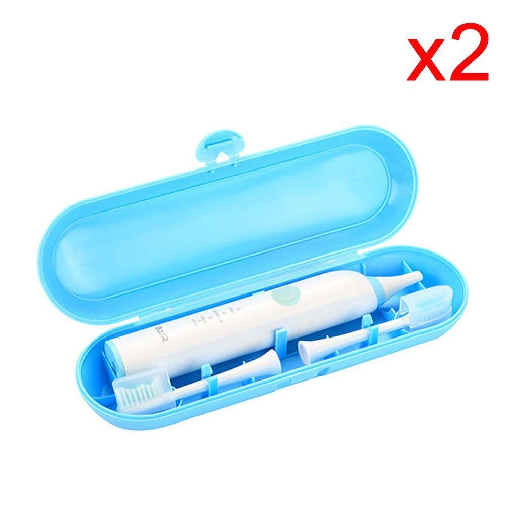 ceston plastica Travel Case per spazzolino elettrico Braun Oral-B & Philips e teste della spazzola titolare, Blau