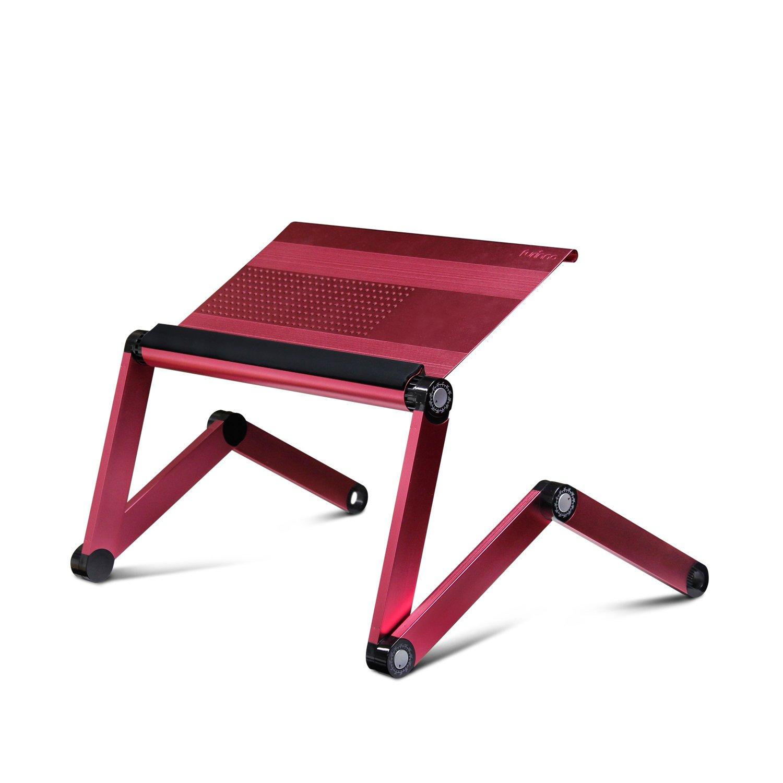 furinno a6 pink ergonomics aluminum vented adjustable