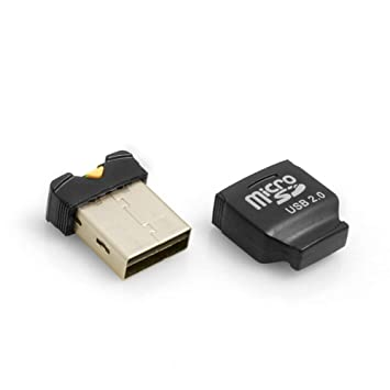 System-S Mini USB 2.0 Adapter for microSD SDHC Cards Reader d4945b7e6