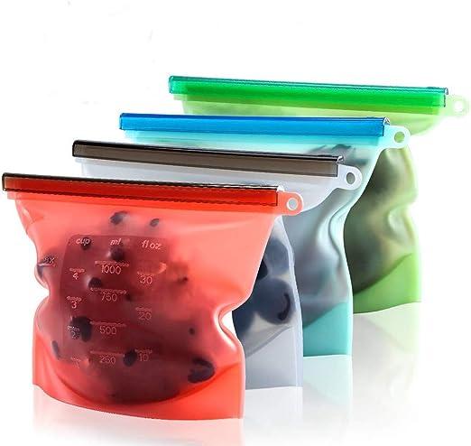 Miruike - Bolsas de silicona reutilizables para almacenar ...