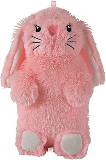 Plush Rabbit Hot Water Bottle Pink