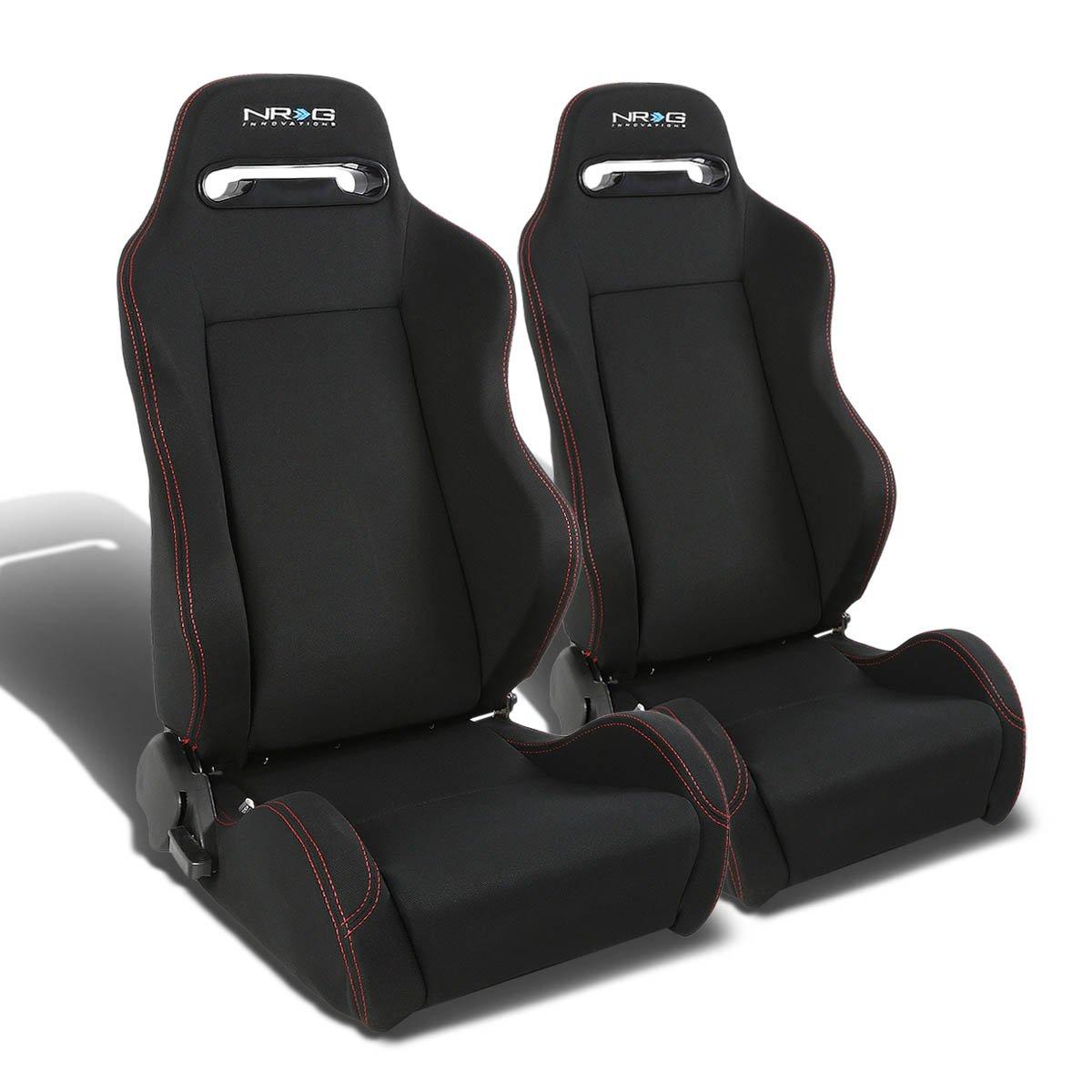 Pair of RSTRLGBK Racing Seats+Mounting Bracket for Jeep Wrangler TJ
