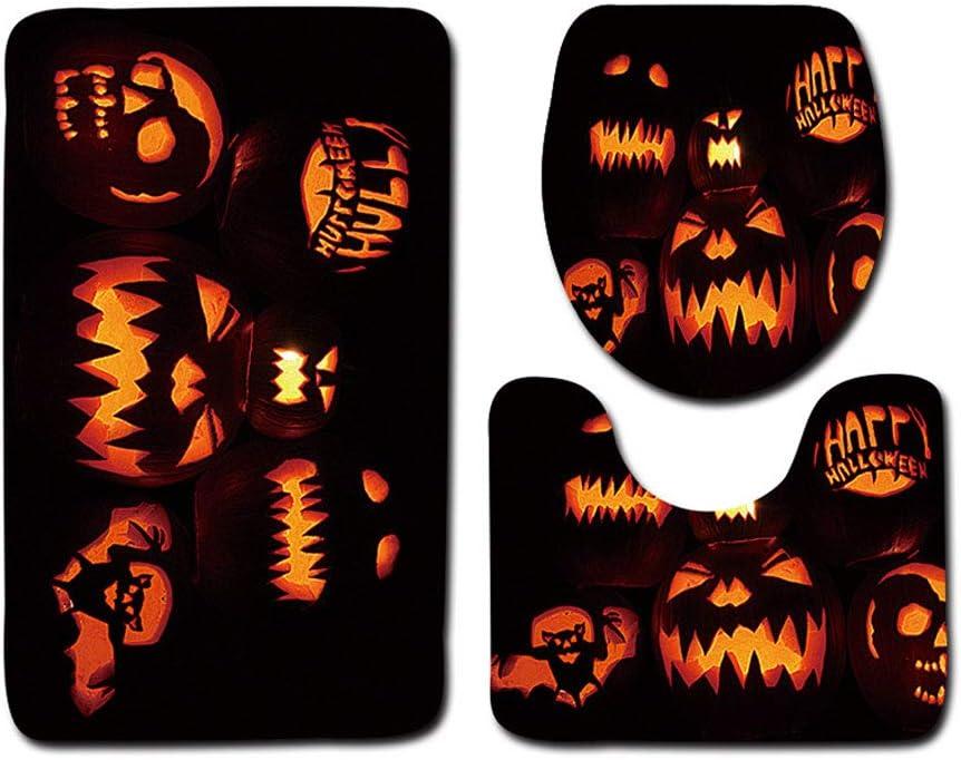 Bin Halloween Series Toilet Toilet Three-Piece Toilet Anti-Slip Carpet 4575,C