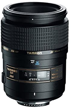 Tamron SP AF 90mm F/2.8 Di Macro Lens for Nikon Camera (Black) DSLR Camera Lenses at amazon