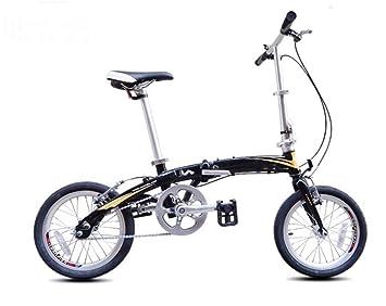 MASLEID 16 pulgadas bicicleta plegable de aleación de aluminio de una sola velocidad bicicleta mini ultra
