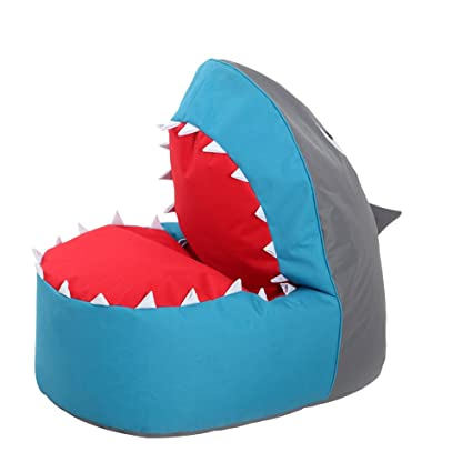 OLizee Creative Shark Bean Bag Chair For Kids Lovely Tatami Oxford Fabric  Cartoon Lazy Sofa,