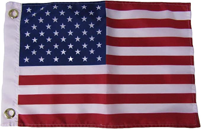 """12x18 USA 50 Star 12/""""x18/"""" 210D Nylon Embroidered Grommets Boat Flag Strong"""