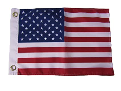 4a20310d97b8 12x18 12 quot x18 quot  USA US American 50 Star Silk Nylon-Polyester Flag  Grommets