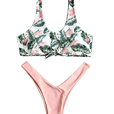 WJLZ Traje de baño Bikini Dividido de Mujer Traje Fresco ...