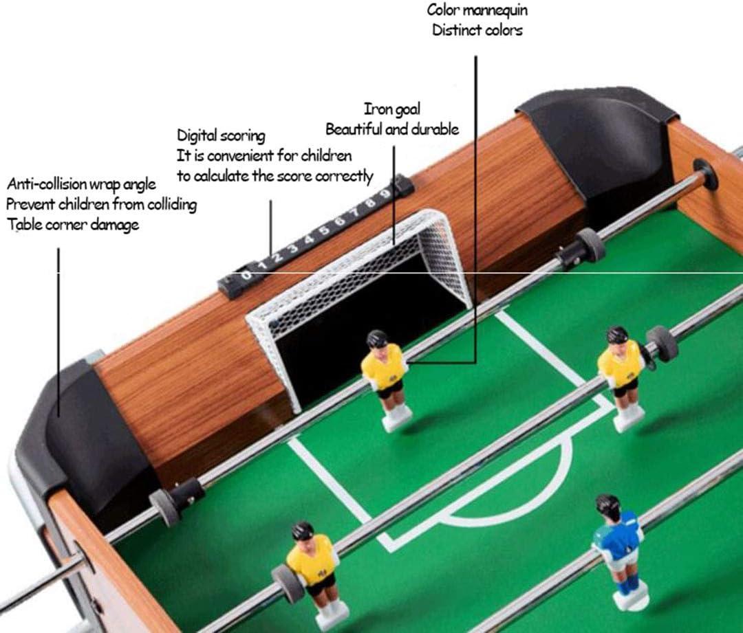 LBJYDGE Doble Mesa Fútbol de Mesa, futbolín Grande de 8 Polos ...