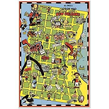Amazon.com: Pictoral cartoon map of New Orleans FRENCH ... on louisiana map, battle of new orleans map, new orleans hotel map, new orleans downtown map, new orleans aquarium, new orleans weather, sedona map, new orleans parking map, utah map, new orleans streetcar routes, french quarter walking map, new orleans maps with landmarks, new orleans ghosts, new orleans city park, new orleans districts, marigny new orleans map, new orleans city map, new orleans louisiana, french quarter hotel map, french quarter interactive map,