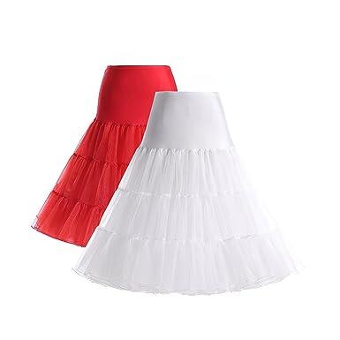 Boolavard 1950 Petticoat Reifrock Unterrock Petticoat Underskirt Crinoline für Rockabilly Kleid