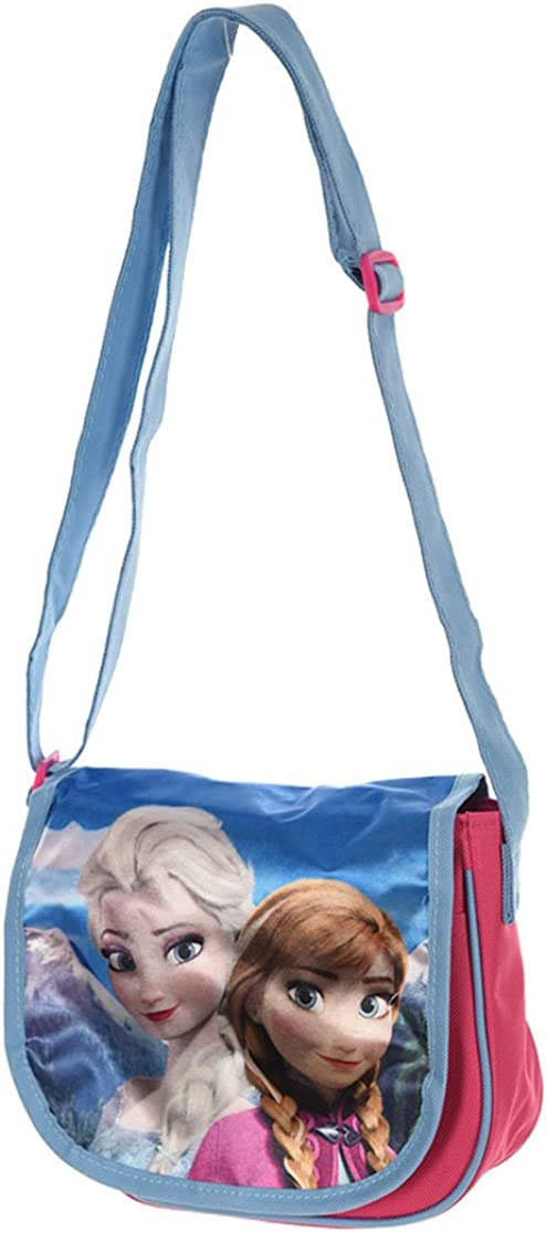 La Reine des Neiges Sac bandouli/ère enfant fille Bleu//rose 22cm