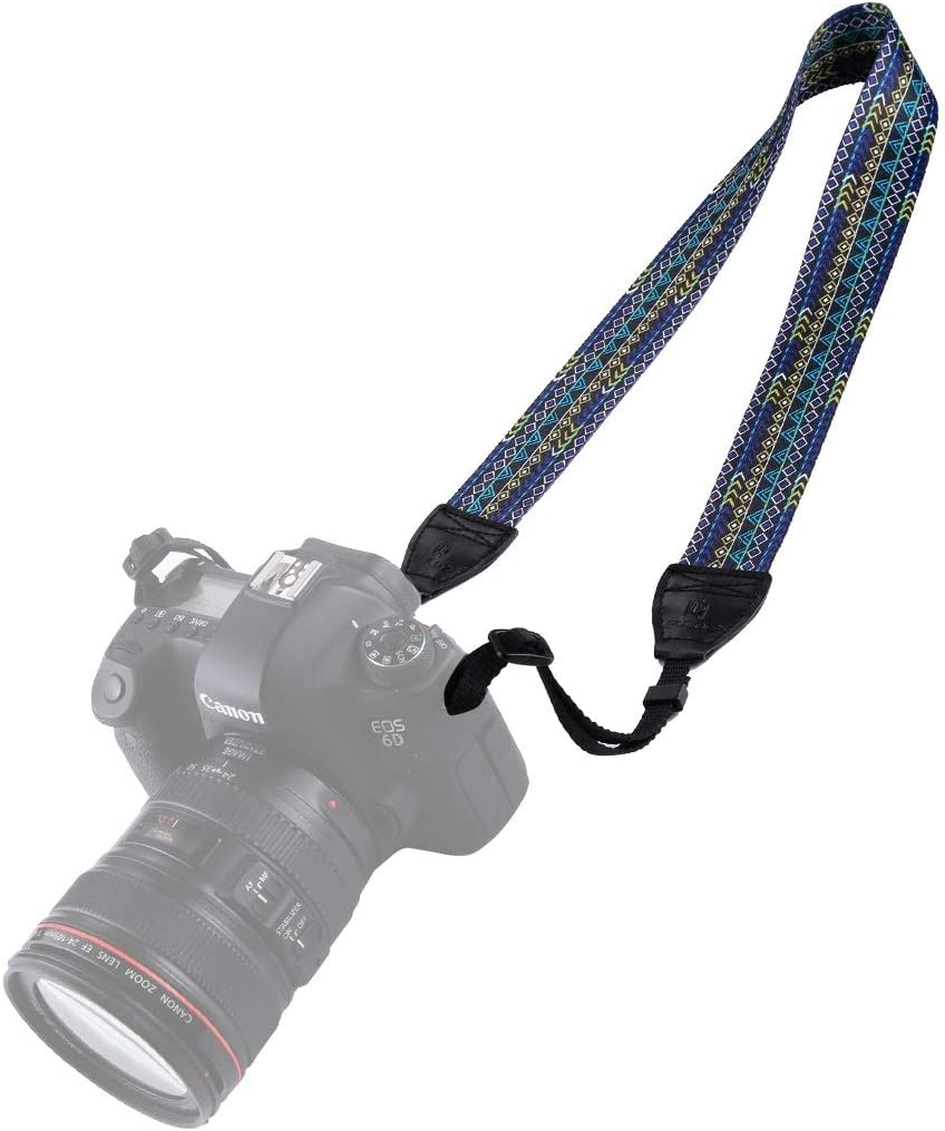 Color : Color1 HUIFANGBU JHY Retro Ethnic Style Multi-Color Series Shoulder Neck Strap Camera Strap for SLR//DSLR Cameras