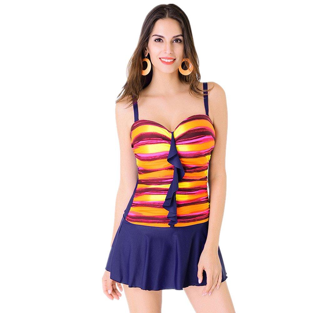 Ms. 水着 ドレス 保守的な 水着 スパ 休日 水着 に適して 水泳 ウェディング エクササイズ スパ (Color : Orange, Size : XXL) B07FGWLZRJ