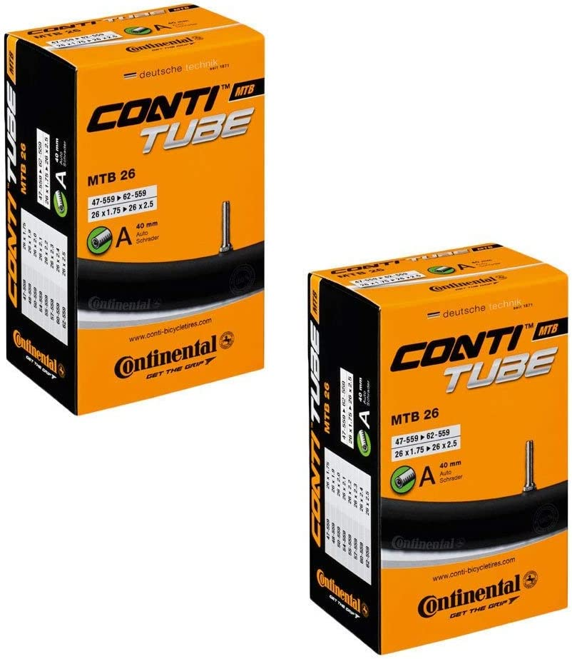 """10x Conti Bicycle Inner Tube 26/"""" MTB 47//62-559 MTB AV Valve loose without packaging"""