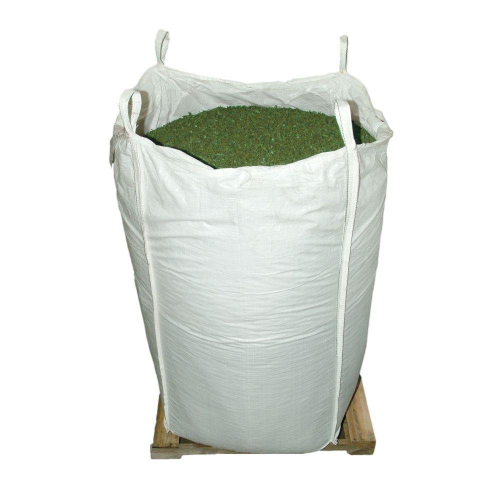 GROUNDSMART LTGGRMN5TS Rubber Mulch, Large, Green