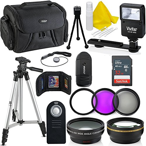 Professional 55MM Accessory Bundle Kit For Nikon D3400 D5600 D3300 AF-P & DSLR Cameras , 15 Accessories for Nikon (1 Buyers Gift Card)