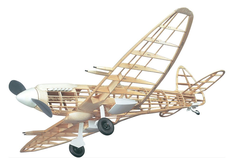 スーパーマリンスピットファイア木製バルサモデルキット 並行輸入 B00JF14GRI