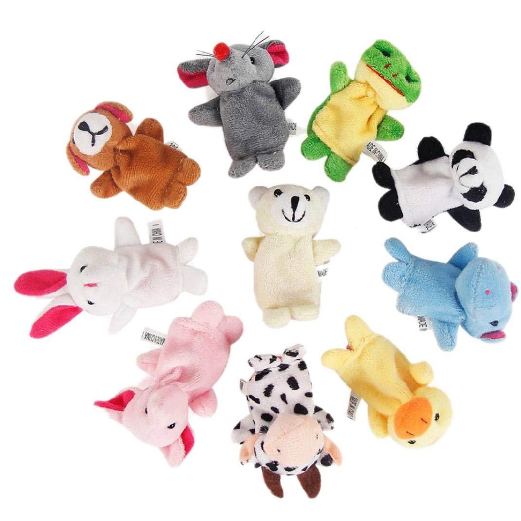 Oulensy 10 Piezas Dedo de Las Marionetas Marionetas de Animales