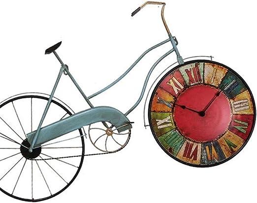 EODUDO-S Reloj de Pared para Colgar, Fashian Bicicleta Arte Reloj ...