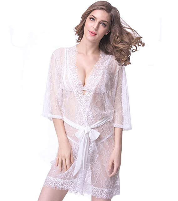 Conjunto De Lencería De Mujer Abrigo De Encaje Ropa Transparente + Tanga + + Noche Cálido Shea Pijamas Interior Interior: Amazon.es: Ropa y accesorios