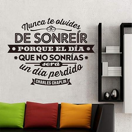 woyaofal España Charles Chaplin Cotizaciones Vinilo Wall s Art Mural Poster Sala de Estar y Dormitorio Decoración para el hogar Decoración de la casa Dw1055 46x60cm: Amazon.es: Hogar