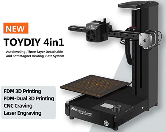 EcubMaker TOYDIY 4-in-1 3D Printer FDM Laser CNC Dual-FDM with Auto Leveling