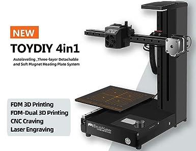 Amazon.com: EcubMaker TOYDIY - Impresora 3D 4 en 1 FDM láser ...