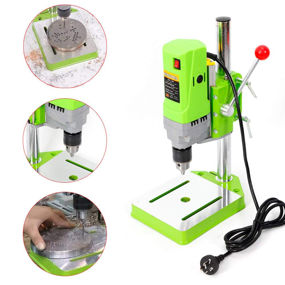 Mini Electric Bench Drill Press Stand Mini Portable Press Workbench Wood Drilling Machine Iron Wood for DIY 710W (USA Stock)