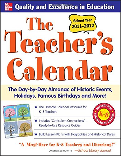 Teachers Calendar 2011 2012 Day Day product image