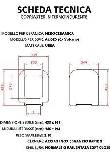 Nero Ceramica Aliseo Prezzi.Sedile Wc Compatibile Nero Ceramica Aliseo Soft Close