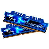 G.Skill F3-2400C11D-16GXM - Memoria RAM de 16 GB (DDR3, 2 x 8 GB, 2400 MHz, 240-pin, CL11), azul