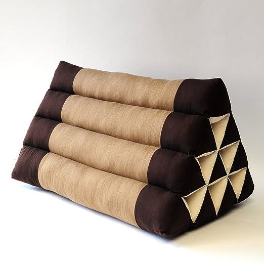 Cojín triangular 50 x 35 x 30 cm Yoga cojín almohada cojín ...