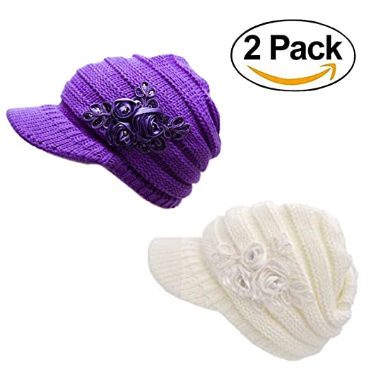 Image Unavailable. Image not available for. Color  Women s Cable Knit Visor  Hat 88606eb02db