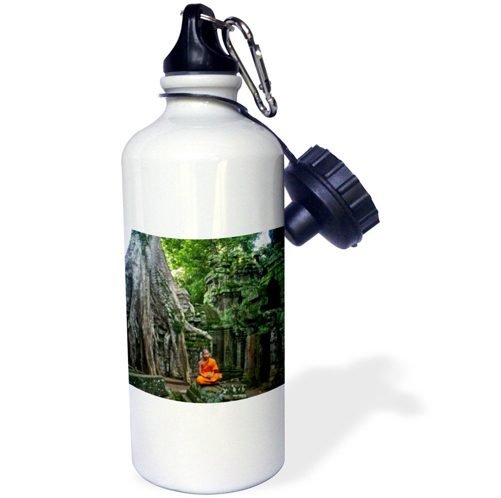 wb/_179843/_1 Green Theravada Buddhist from Phras ANG Tep Monastery Meditate-Sports Water Bottle 3dRose One Orange 21oz 21 oz Multicolor