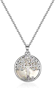 Mestige Women's Willow Tree of Life Necklace with Swarovski Crystals - MSNE3546