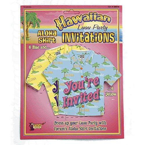 Forum Hawaiian Luau Miniature Aloha Shirt 4.5
