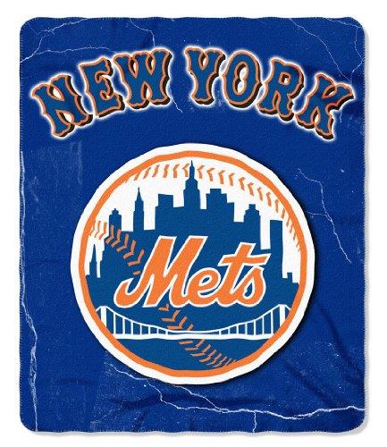 Ny Mets Throw (Northwest NOR-1MLB031010019RET 50 x 60 in. New York Mets MLB Light Weight Fleece Blanket, Wicked Series)