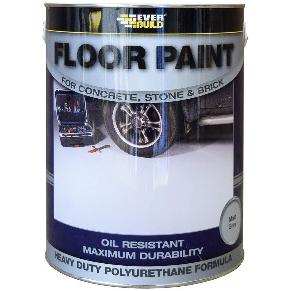 2X Floor Paint 5L - Grey Everbuild
