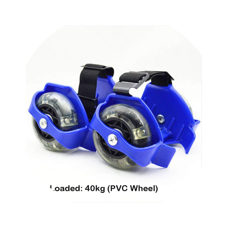 大人用フラッシュスケートシューズ 小型 渦巻きプーリー フラッシュヒール スケートシューズ スポーツシューズ Kids PVC 青 size