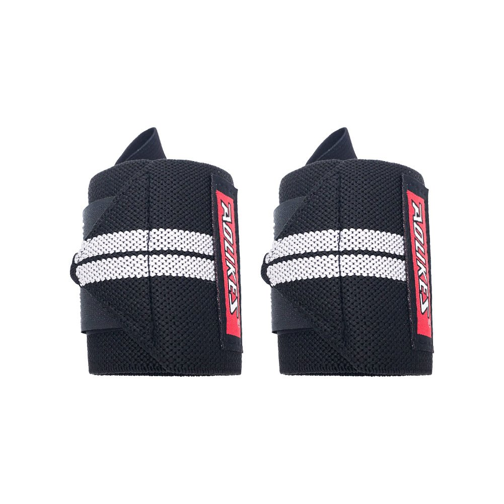 AOLIKES Unisex Wrist Guard Wraps (1Pair/2Wraps) 19.68'' for Weightlifting Cross Training Power lifting Boxing For Both Women and Men Enhance Hand Strength Support During Weight Lifting Black