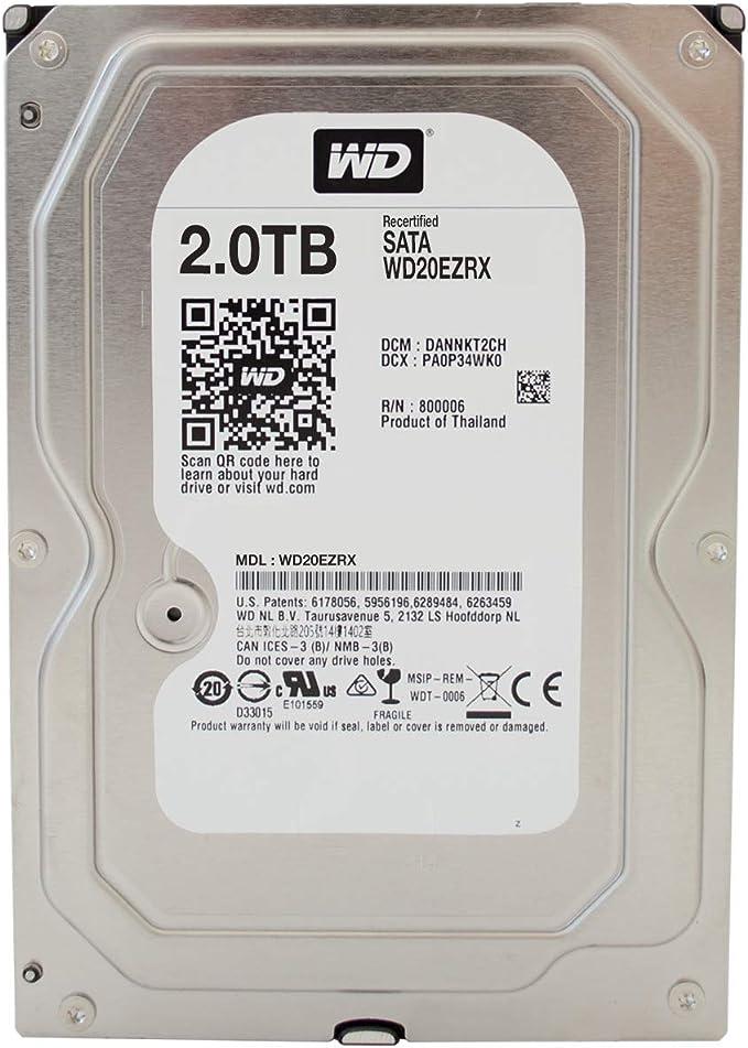 Western Digital Green Wd20ezrx 2tb Interne Festplatte Computer Zubehör