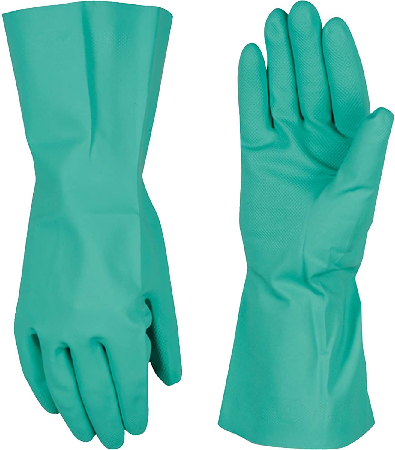 Chemical Resistant Nitrile Gloves, Solvent and Pesticide Resistant, Reusable, Large (Wells Lamont 178L) - Work Gloves -