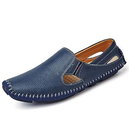 promo code 90053 ef434 FuweiEncore Zapatos 2018 para Hombre Zapatillas Planas de Moda Casual  Mocasines de Verano Hollow Respirable Botas