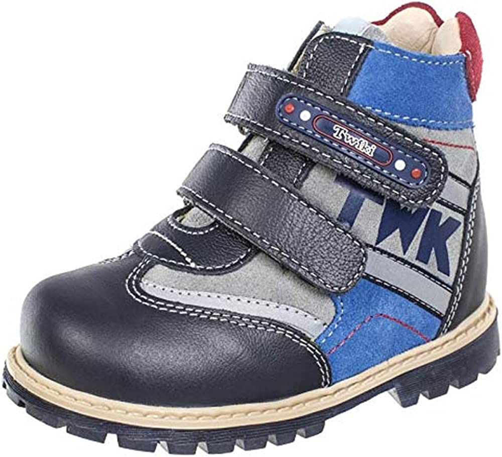 Twiki Orthopedic Boots TW-321/322 Insulated Nubuck Autumn Winter Outdoor Anti-Slip Shoes Two Fasteners Baby Toddler Kids Boys Girls