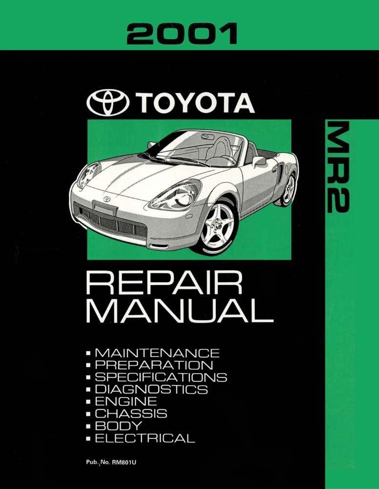 2001 Toyota MR-2 Shop Service Repair Manual Book Engine Drivetrain OEM