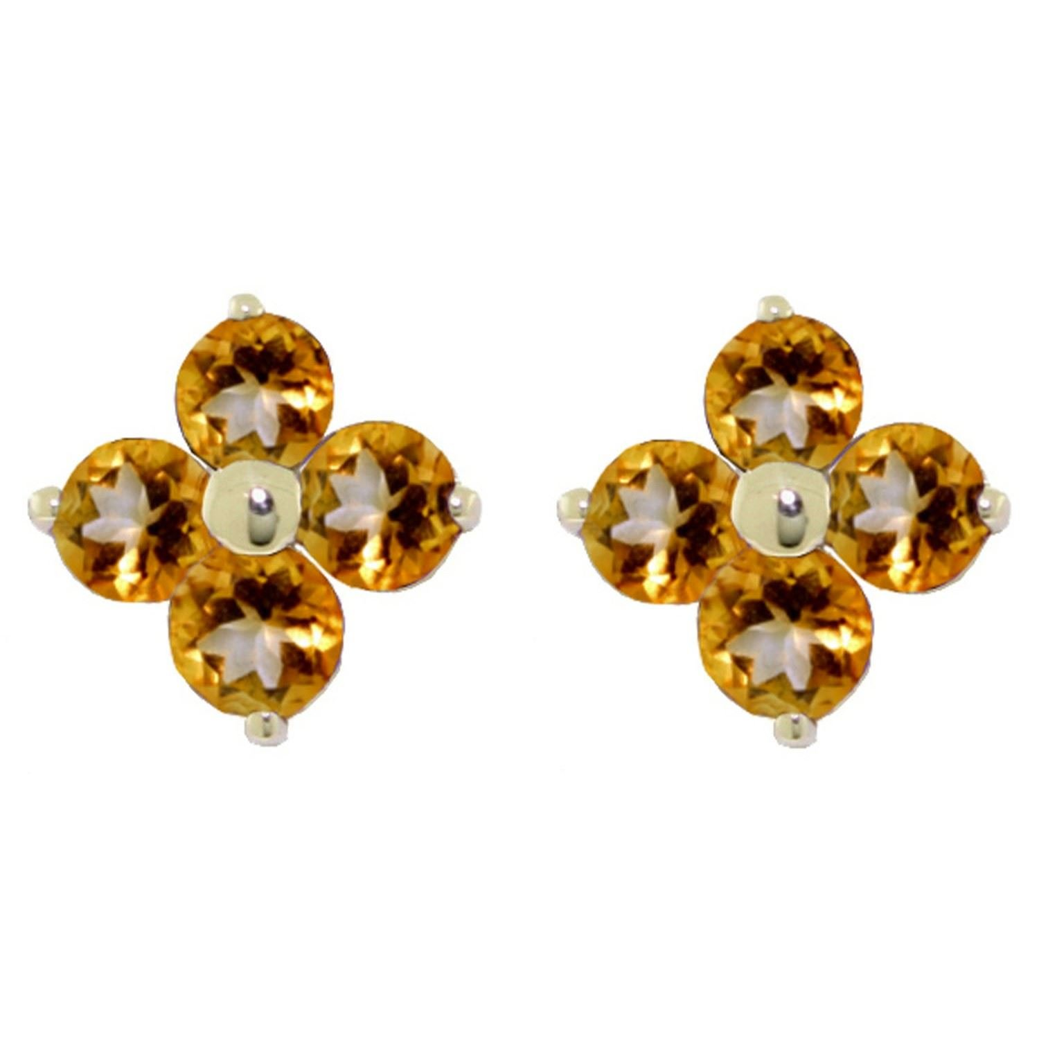 ALARRI 1.15 Carat 14K Solid Gold Trysts Of Summer Citrine Earrings